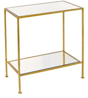 Worlds Away 2 Tier End Table Table Base Color: Gold Leaf