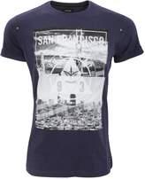 Firetrap Mens San Francisco City Bridge Graphic Print Short Sleeve T-Shirt