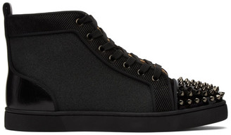 Christian Louboutin Black Orlato High-Top Sneakers