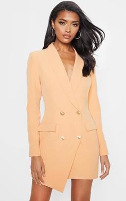 UNIQUE21 Nude Gold Button Blazer Dress