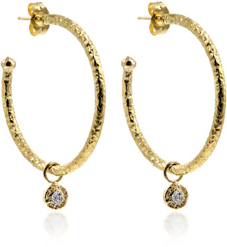 Octavia Elizabeth 18K Gold Diamond Hoop Earrings