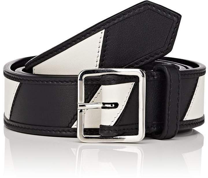 Calvin Klein Men's Striped Leather Belt