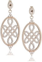 Freida Rothman Blush Collection Cubic Zirconia Long Love Knot Earring