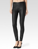 Paige Molly Legging - Black Leather