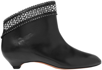 Alaia 30 Stud-embellished Leather Ankle Boots