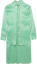 Etro Oversized Striped Silk Shirt - Green