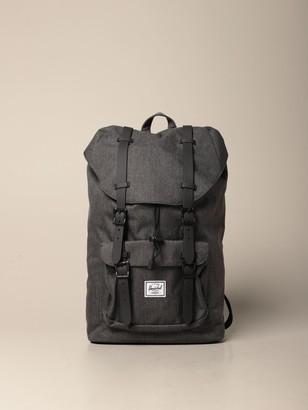 Herschel Canvas Backpack With Double Buckles