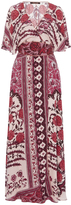 Roberto Cavalli Printed Wrap Maxi Dress