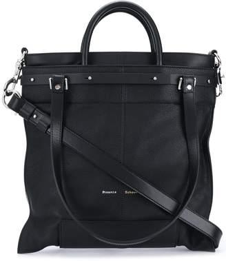 Proenza Schouler Four-Handle Logo-Print Tote Bag