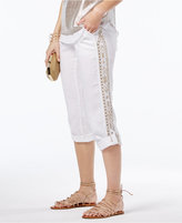INC International Concepts Linen Embroidered Curvy-Fit Pants, Only at Macy's