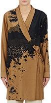 Dries Van Noten Women's Cancun Silk Georgette Robe-Black, Tan