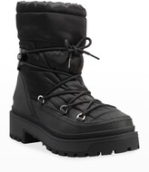 Thumbnail for your product : Valentino Garavani V Logo Quilted Nylon Winter Booties