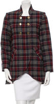 Steven Alan Short Plaid Coat