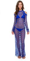 Luli Fama What A Catch Maxi Dress In Electric blue (L506954)