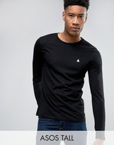 Asos TALL Long Sleeve T-Shirt With Logo And Crew Neck