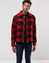 Wood Wood Dale Lumber Jacket Wool Block Check