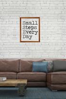 PTM Images Small Steps Framed Silkscreen Glass Wall Art