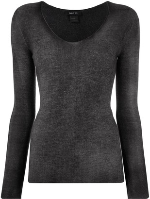 Avant Toi V-neck relaxed knitted top