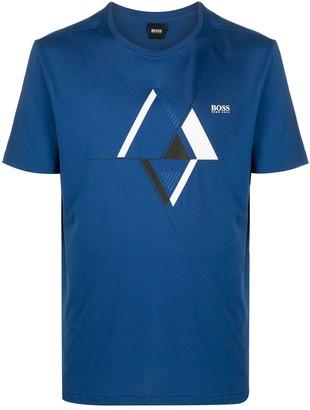 HUGO BOSS graphic logo print T-shirt
