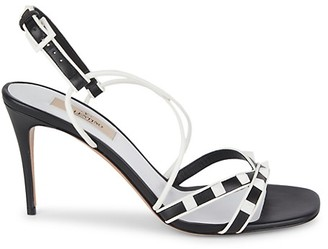 Valentino Two-Tone Strappy Leather Sandals