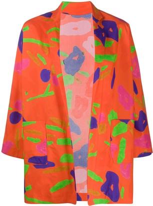 Daniela Gregis Abstract-Print Cotton Jacket