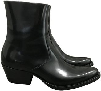 Calvin Klein Black Patent leather Boots