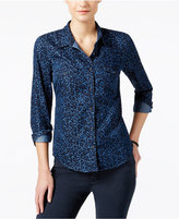 Calvin Klein Jeans Animal-Print Denim Shirt