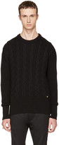 Versace Black Cable Knit Sweater
