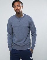 New Balance Sweatshirt In Navy Mt63552_nv