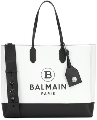 Balmain Logo Medium leather tote