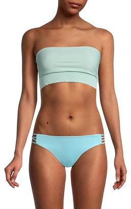 Pilyq Smocked Bandeau Bikini Top