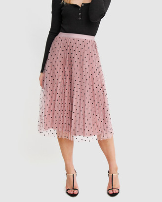 Belle & Bloom Women's Pink Midi Skirts - Mixed Feelings Reversible Skirt - Size One Size, XS-S at The Iconic