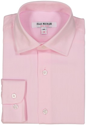 Isaac Mizrahi Solid Dress Shirt (Toddler, Little Boys, & Big Boys)