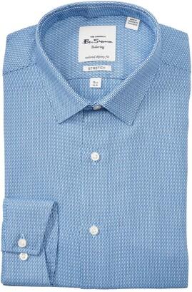 Ben Sherman Micro Pattern Tailored Skinny Fit Dress Shirt