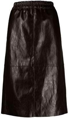 Luisa Cerano Imitation-Leather Pencil Skirt