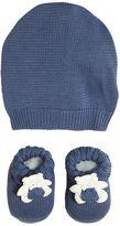 La Perla Bear Cotton Knit Socks & Hat Set