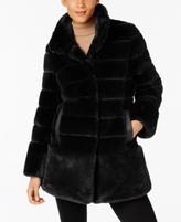 Jones New York Petite Faux-Fur Seamed Coat