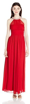Speechless Junior's Illusion Maxi Dress