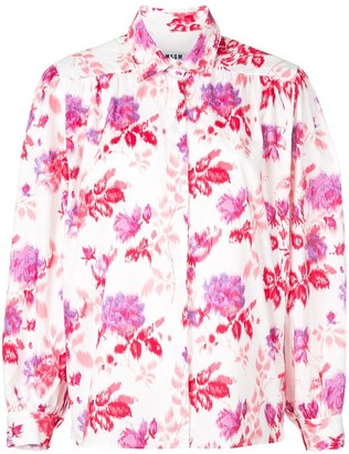MSGM floral button-up shirt