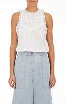 Ulla Johnson Women's Lea Swiss Dot Cotton Top