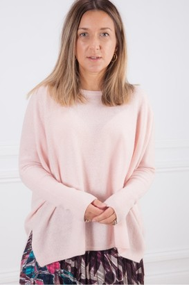 Absolut Cashmere - Blush Pink Astrid Scoop Neck Oversize Cashmere Sweater - Small