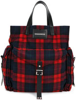 DSQUARED2 tartan shopper tote - men - Leather/Wool - One Size