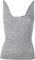 Alexander Wang variegated knit cropped tank top - women - Merino - M