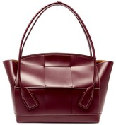 Bottega Veneta The Arco Large Intrecciato Leather Bag - Womens - Burgundy