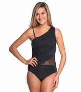 Carmen Marc Valvo Kalahari One Shoulder Rhinestone One Piece Swimsuit 8115493