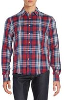 Joe's Jeans Relaxed-Fit Plaid Cotton Sportshirt