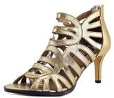 Michael Antonio Lush Women Open Toe Synthetic Gold Sandals.