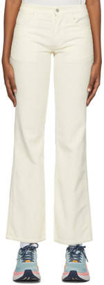 ERL Off-White Corduroy Trousers