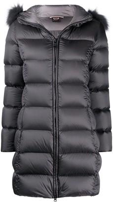 Colmar Faux-Fur-Trimmed Hood Padded Coat