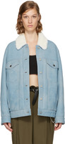 Alexander Wang Blue Oversized Shearling Jacket